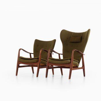 Ib Madsen & Acton Schubell easy chairs in teak at Studio Schalling