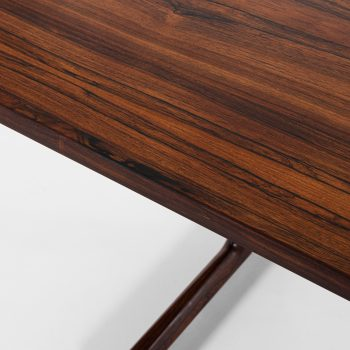 Large dining table in rosewood and steel at Studio Schalling