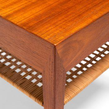 Severin Hansen bedside tables in teak and cane at Studio Schalling