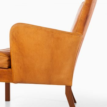 Kaare Klint easy chairs model 5313 in niger leather at Studio Schalling