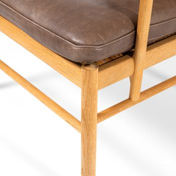 Ole Wanscher Colonial armchairs in oak and leather at Studio Schalling