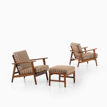 Hans Wegner GE-233 easy chairs by Getama at Studio Schalling
