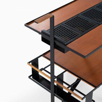 Cees Braakman trolley in teak and black lacquered metal at Studio Schalling