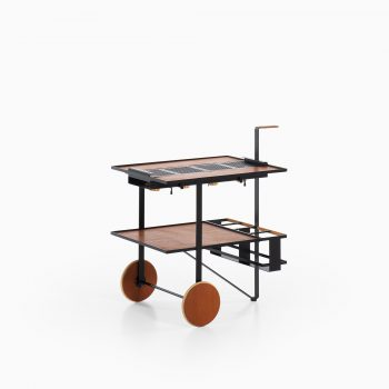 Cees Braakman trolley in teak and black lacquered metal at Studio Schalling