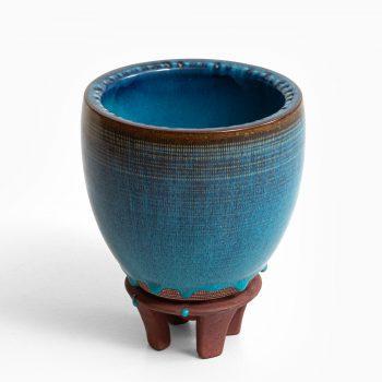 Wilhelm Kåge ceramic vase Farsta at Studio Schalling