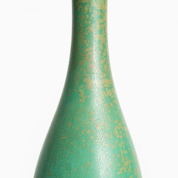 Carl-Harry Stålhane ceramic vase in green glaze at Studio Schalling