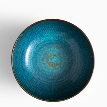 Stig Lindberg ceramic bowl by Gustavsberg at Studio Schalling