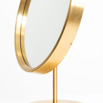Table mirror in brass by Glas mäster at Studio Schalling