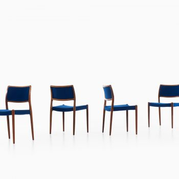 Niels Otto Møller dining chairs model 80 at Studio Schalling
