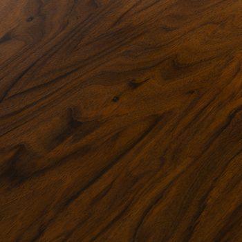 Freestanding desk in walnut, mahogany and brass at Studio Schalling