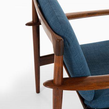 Grete Jalk easy chair model 56 in rosewood at Studio Schalling