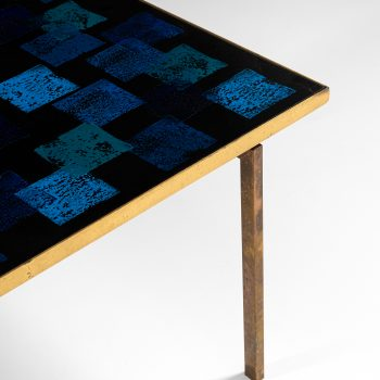 Carl Bjørn coffee table in brass and enamel at Studio Schalling