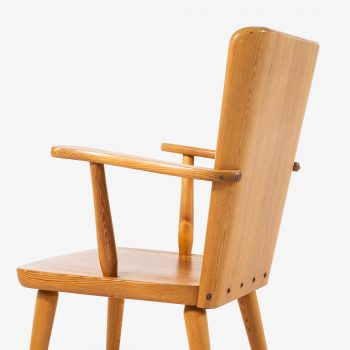 Göran Malmvall armchairs in solid pine at Studio Schalling