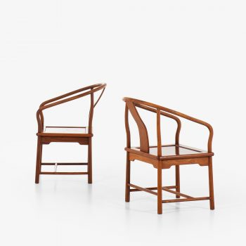 Chinese armchairs in mahogany at Studio Schalling