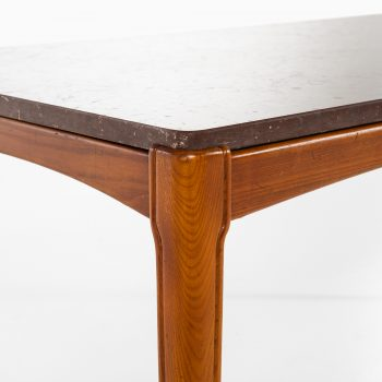 Coffee table in ash and limestone at Studio Schalling
