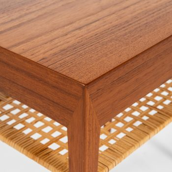 Severin Hansen bedside tables in teak and woven cane at Studio Schalling