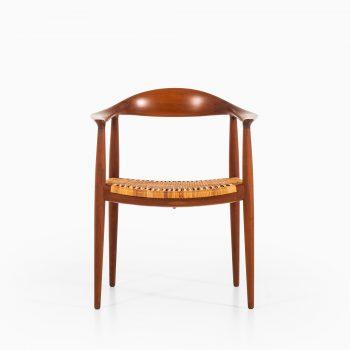 Hans Wegner JH-501 armchair in teak and woven cane at Studio Schalling
