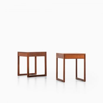Pair of bedside tables in teak at Studio Schalling