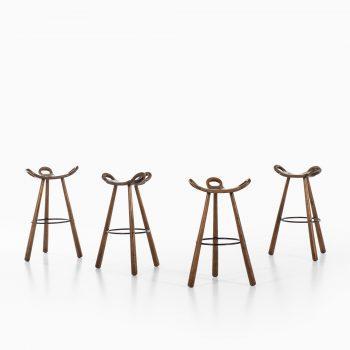 Set of 4 brutalist stools model Marbella at Studio Schalling