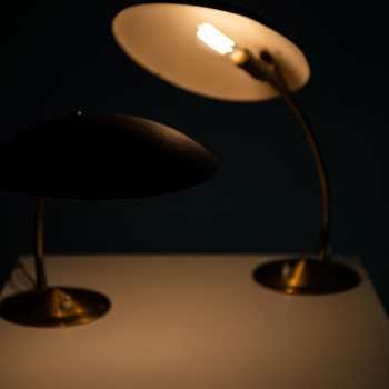 Pair of table lamps with flexible arms at Studio Schalling