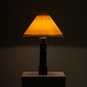 Table lamp in marble and brass by AB Stilarmatur at Studio Schalling