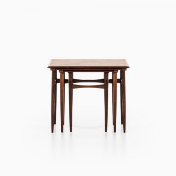 Kai Kristiansen nesting tables in rosewood at Studio Schalling