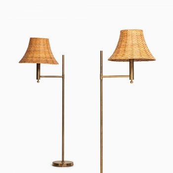 Pair of Bergbom floor lamps in brass at Studio Schalling