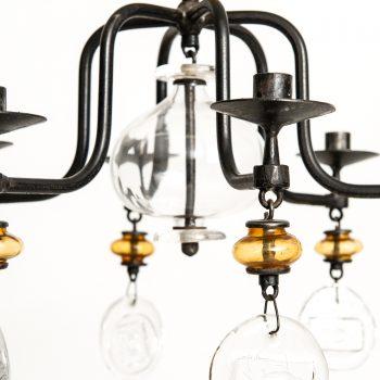 Erik Höglund hanging candelabra by Boda at Studio Schalling