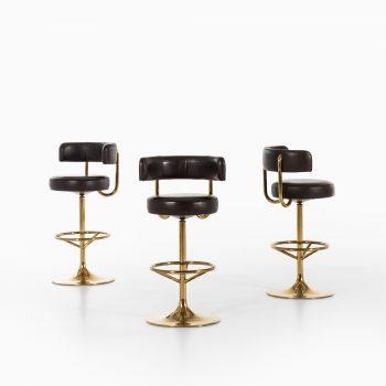 Börje Johanson bar stools in brass at Studio Schalling