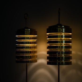 Hans-Agne Jakobsson G-20 floor lamps in brass at Studio Schalling