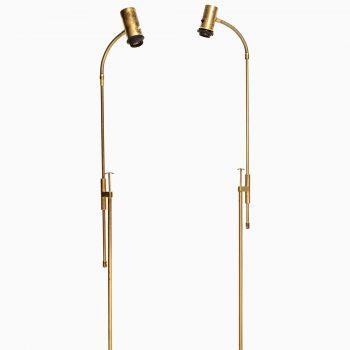 Pair of floor lamps in brass by Falkenbergs belysning at Studio Schalling