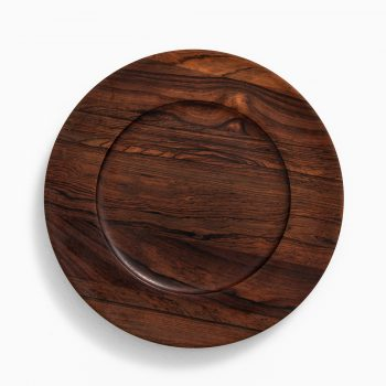 Jens Quistgaard coaster plates in rosewood at Studio Schalling