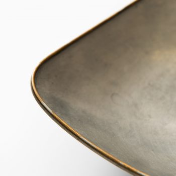 Pewter tray with brass rim by Svenskt Tenn at Studio Schalling