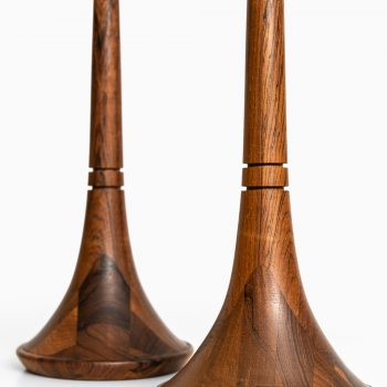 Table lamps in rosewood by AB Stilarmatur at Studio Schalling