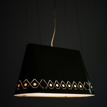 Ceiling lamp in lacquered metal and plastic at Studio Schalling