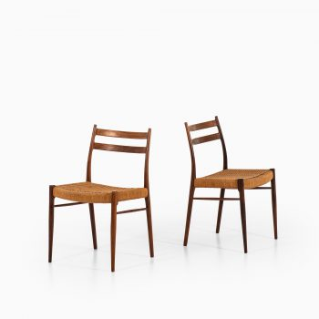 Arne Wahl Iversen dining chairs model GS-70 at Studio Schalling