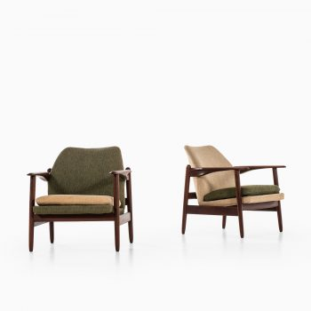 Pair of easy chairs in afromosia at Studio Schalling