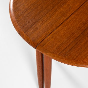 Pair of side tables in teak at Studio Schalling