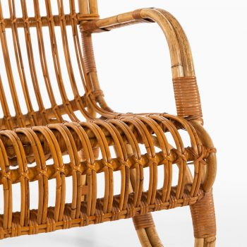 Easy chairs in rattan and cane at Studio Schalling
