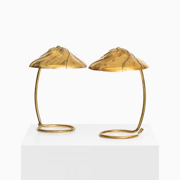 Paavo Tynell table lamps in brass at Studio Schalling