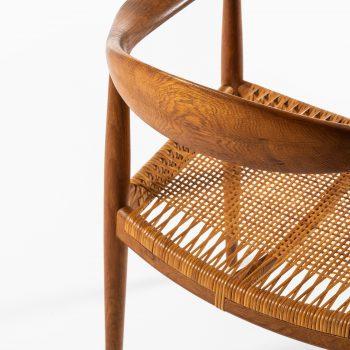 Hans Wegner JH-501 armchair in oak and cane at Studio Schalling