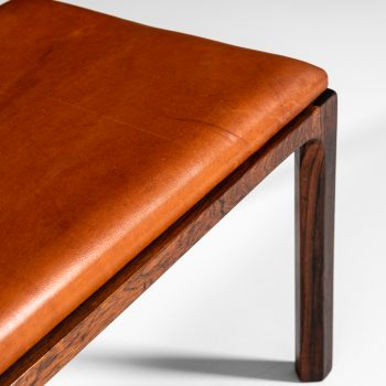 Kai Kristiansen benches in rosewood and leather at Studio Schalling