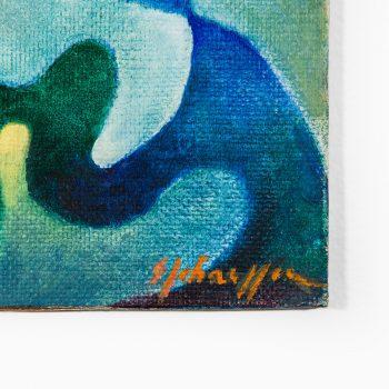Sven Johansson acrylic painting on board at Studio Schalling