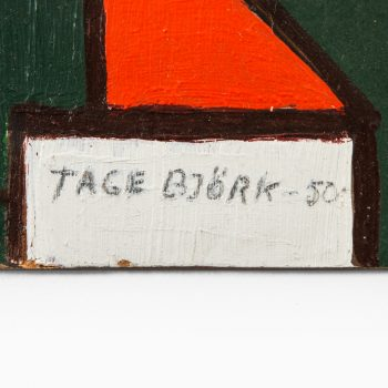 Tage Björk oil painting on board at Studio Schalling