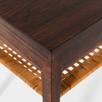 Severin Hansen bedside table in rosewood and woven cane at Studio Schalling