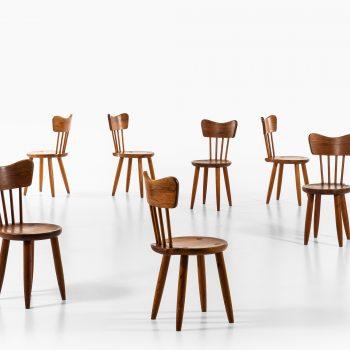 Torsten Claeson dining chairs in pine at Studio Schalling