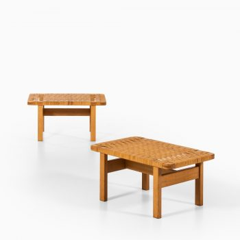 Børge Mogensen side tables / benches by Fredericia at Studio Schalling