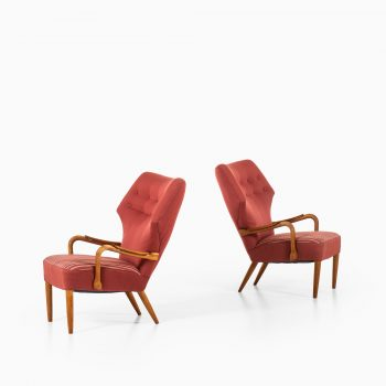 Ib Madsen & Acton Schubell easy chairs and stool at Studio Schalling