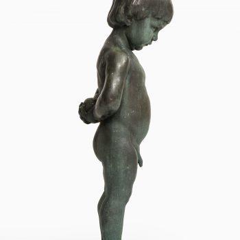 Anders Jönsson sculpture boy with apple at Studio Schalling