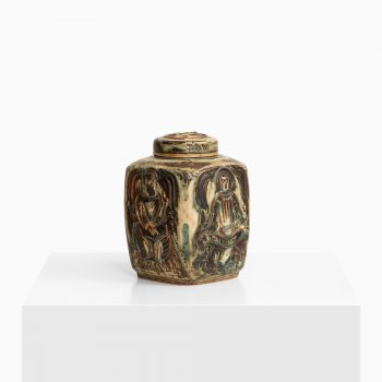 Jais Nielsen ceramic urn with lid by Royal Copenhagen at Studio Schalling